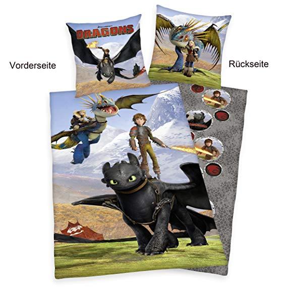 Herding 442658050 Bettwäsche Dragons