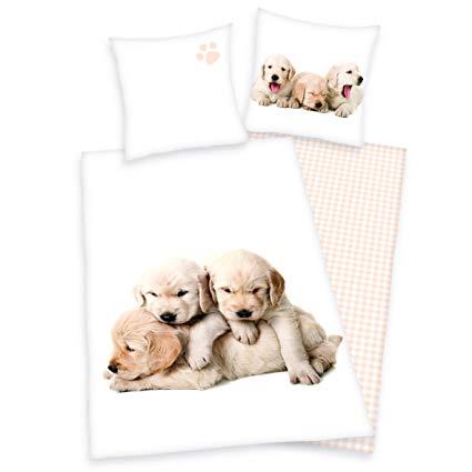 Herding Young Collection Bettwäsche-Set Hunde Wendemotiv