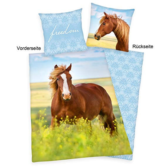 Herding Young Collection Bettwäsche-Set Pferde