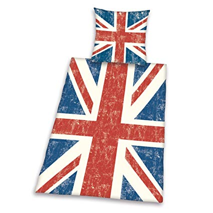 Herding Young Collection Bettwäsche-Set Union Jack Motiv
