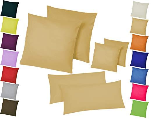 Home-Impression Doppelpack / 2er Set Microfaser Kissenhüllen/Kissenbezüge