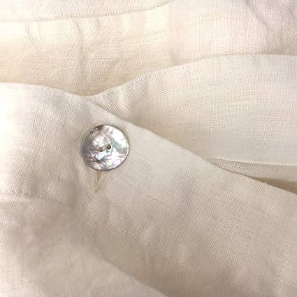 Jowollina Natur Leinen Stonewashed Bettwäsche OFF White