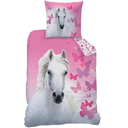 Matt&Rose Bettwäsche mit Pferd weiß Butterfly