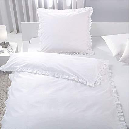 No Name 7dreams Romantische Bettwäsche mit Rüschen