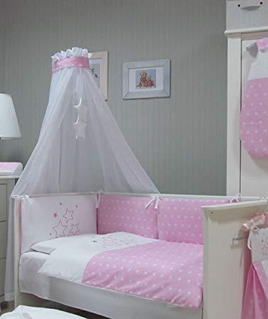 No Name Baby Bettwäsche Set rosa Stars