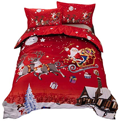 No Name Generic Bettwäsche-Set mit Merry-Christmas-Design
