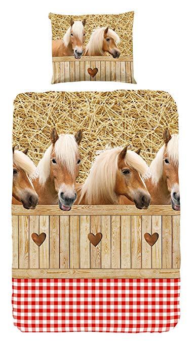 No Name Good Morning! 5058-A bettwäsche mit Pferden