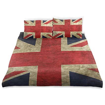 Vipsa Bettwäsche-Set mit britischem Union Jack-Muster