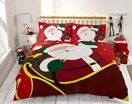 No Name Weihnachtspullis.de Bettbezug Set Rot Weihnachten