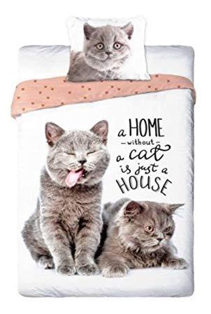 Sayes 2-tlg Jugend Bettwäsche Best Friends Katzen