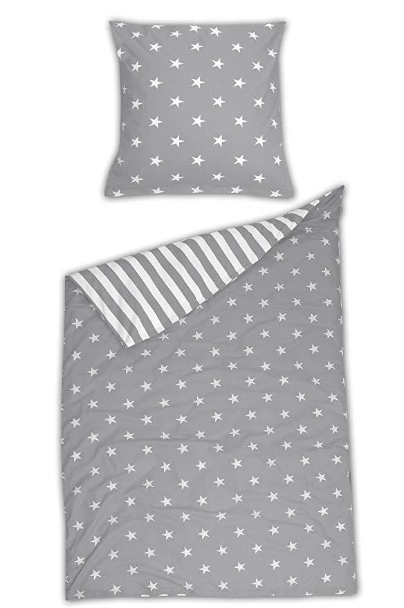 Schiesser Betten Set Baumwolle Grau