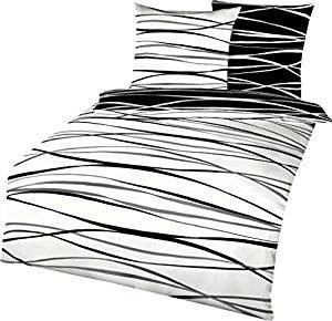 Schwarz weiße Bettwäsche