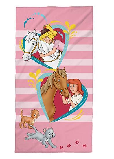 Tex Idea Bibi und Tina Strandtuch mit Pferde