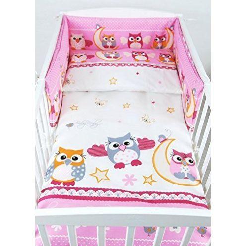 BABYLUX Kinderbettwäsche Eule im Design
