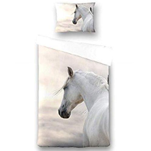 Aminata-Home Kinder-Bettwäsche-Set Pferde