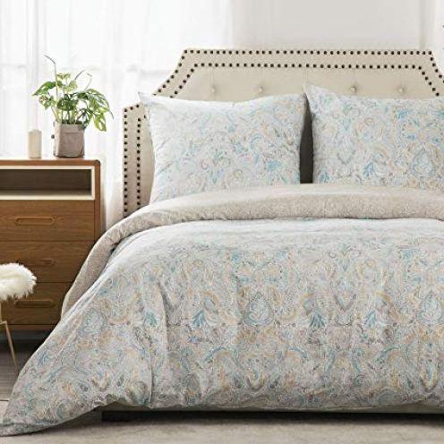 Bedsure Bettwäsche 135x200 cm geblümter Bettbezug Set