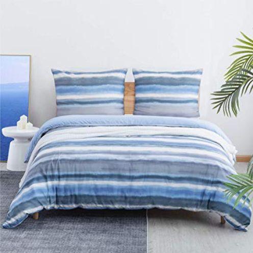 Bedsure Mikrofaser Bettwäsche Blau