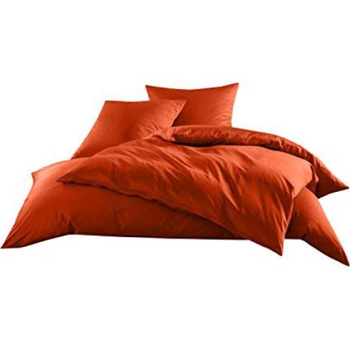 Bettwaesche-mit-Stil Mako-Satin Baumwollsatin Bettwäsche Uni einfarbig