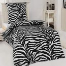 Dreamhome Microfaser Bettwäsche Garnitur Zebra African Dream
