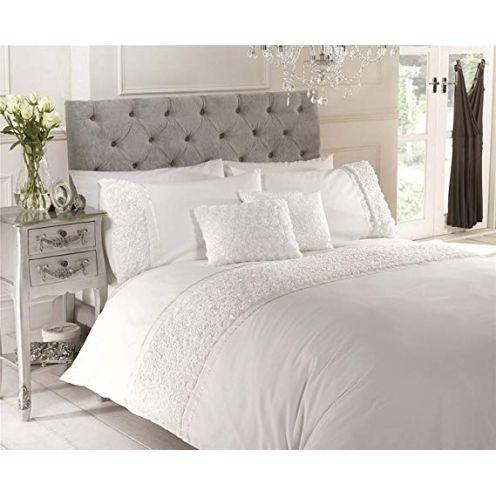 Duvet Cover Bettbezug mit Blumenapplikationen