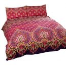 Duvet Cover henna-style rot lila Baumwolle-Mischgewebe Single Bettbezug