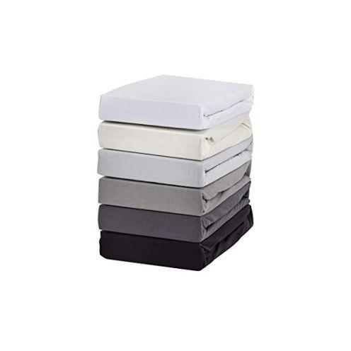 Hometex Premium Textiles Boxspringbett Spannbettlaken Grau