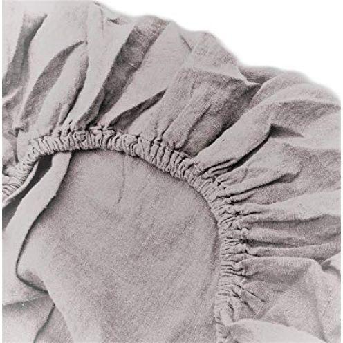 Jowollina Spannbettlaken (160x200 + 20 cm) Grau