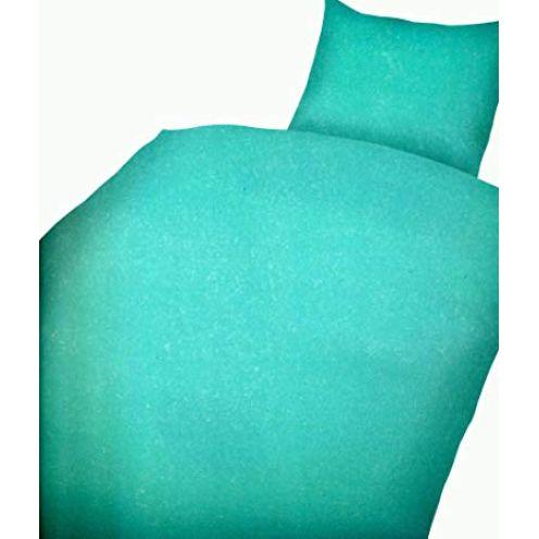 Leonado Vicenti 4 TLG. Bettwäsche Microfaser Uni einfarbig Türkis