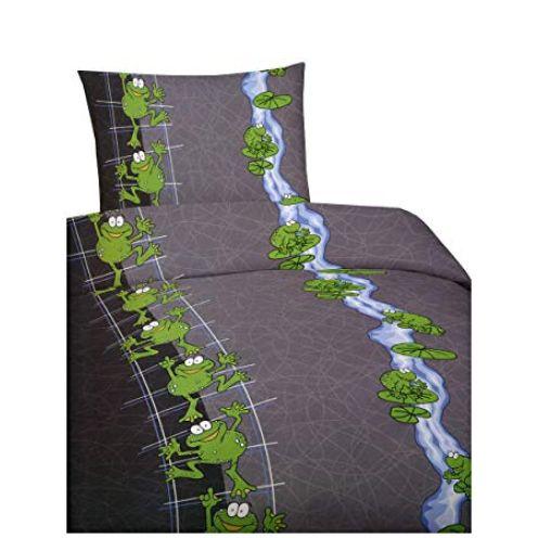 Leonado Vicenti 6 teilige Bettwäsche Microfaser Frosch