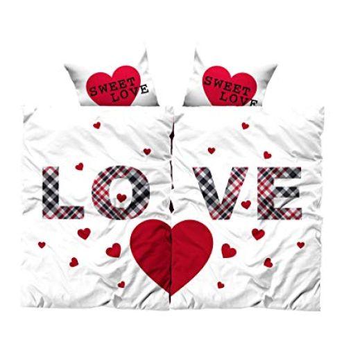 Leonado Vicenti Bettwäsche Microfaser Partnerbettwäsche Love