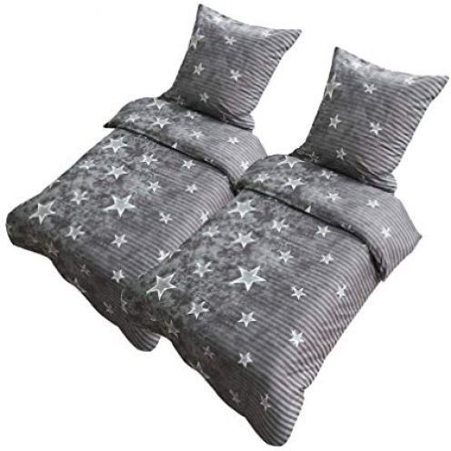 Leonado Vicenti Bettwäsche Sterne Grau Galaxy