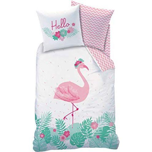 Matt&Rose Bettwäsche Flamant Rosa Flamingo Blumen