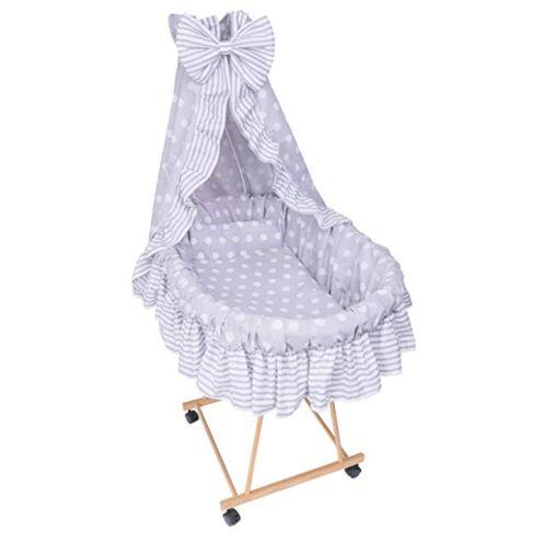 Amilian® 9tlg Textile Ausstattung Pünktchen