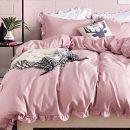 AShanlan Kinder Bettwäsche 135x200cm Rosa mit Rüschen