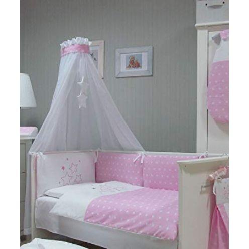 Baby Bettwäsche Set rosa Stars