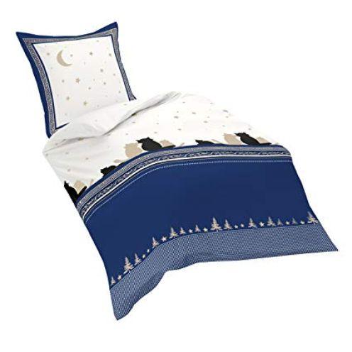 Fleuresse Soft-Feinbiber-Bettwäsche nachtblau