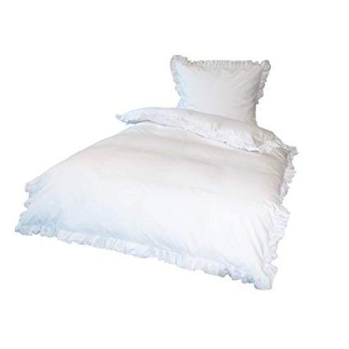 Krollmann 2-TLG. Bettwäsche Set Rüschen