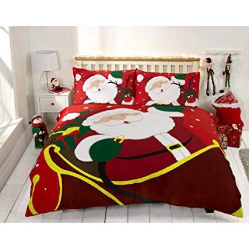 Weihnachtspullis.de Bettbezug Set Rot Weihnachten