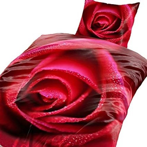 one-home 4 TLG. Bettwäsche Rose