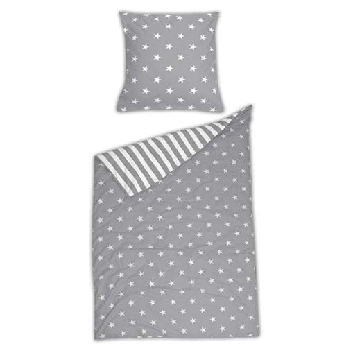 Schiesser Bettwäsche Baumwolle Grau