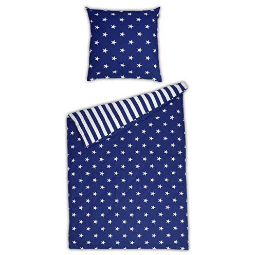 Schiesser Renforcé Bettwäsche Sterne blau