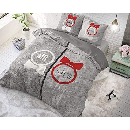 SLEEP TIME Bettwäsche Baumwolle Mr. and Mrs Trendy