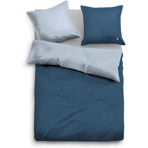 Tom Tailor Uni Wendebettwäsche blau