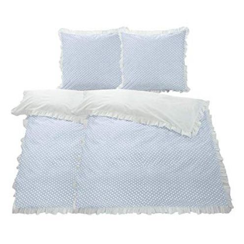 WOMETO 4-TLG Rüschen Bettwäsche